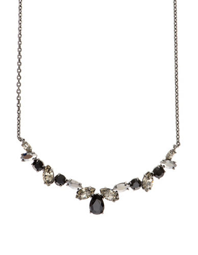 Marchesa Multicoloured Gem Necklace-BLACK-One Size