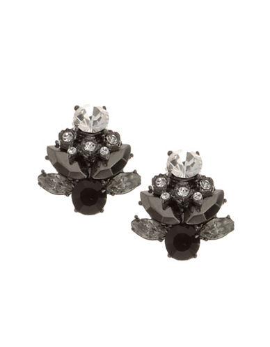 Marchesa Fancy Cut Floret Studs-BLACK-One Size 88060118_BLACK_One Size