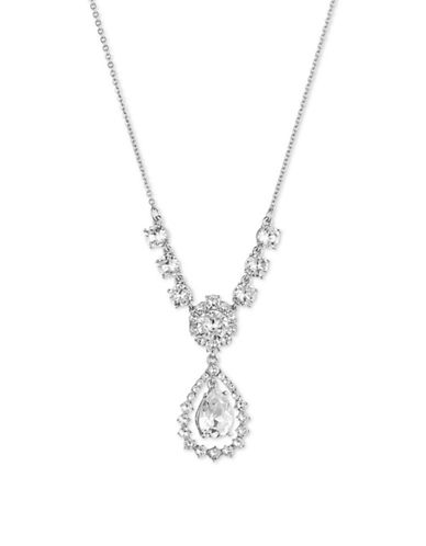 Marchesa Open Pear Drop Necklace-SILVER-One Size