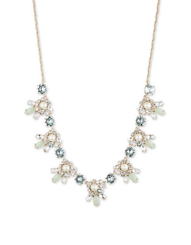 Marchesa Frontal Flower Necklace-GOLD-One Size