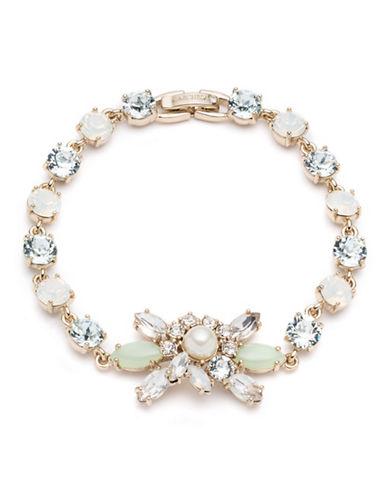 Marchesa Faux Pearl Flower Bracelet-GOLD-One Size