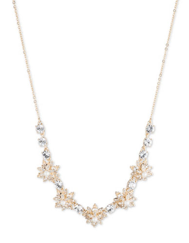 Marchesa Frontal Beaded Cluster Necklace-GOLD-One Size 88609244_GOLD_One Size