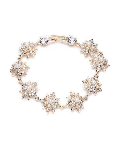 Marchesa Beaded Cluster Necklace-GOLD-One Size