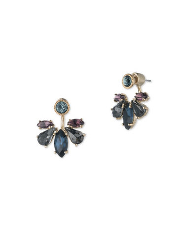 Marchesa Goldtone White Metal Ear Crawlers-BLUE-One Size