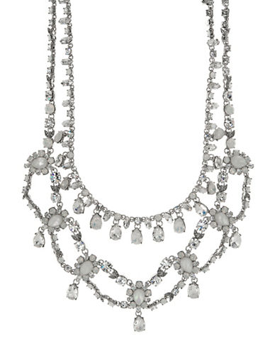 Marchesa Opal Multi-Row Collar Necklace-SILVER-One Size