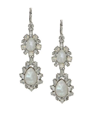 Marchesa Opal Double Drop Earrings-SILVER-One Size