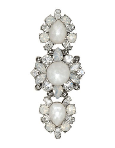 Marchesa Opal and Stone Cluster Ring-SILVER-7