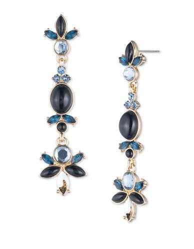 Ivanka Trump Epoxy and Goldplated Earrings-BLUE-One Size
