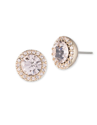 Ivanka Trump Faceted Center Pave Studs-GOLD-One Size