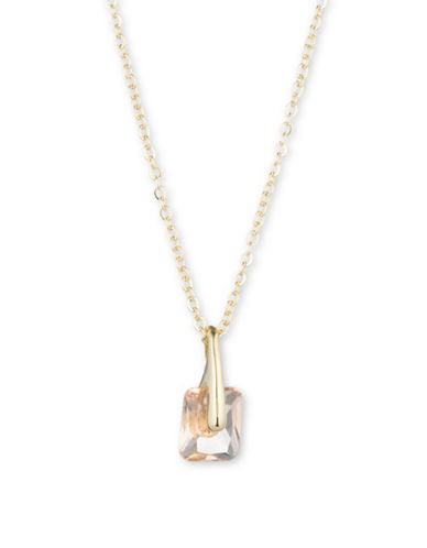 Ivanka Trump Foldover Crystal Pendant Necklace-GOLD-One Size