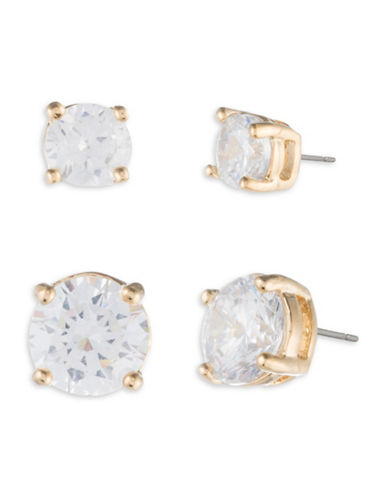 Ivanka Trump Crystal Goldplated Stud Earrings-GOLD-One Size