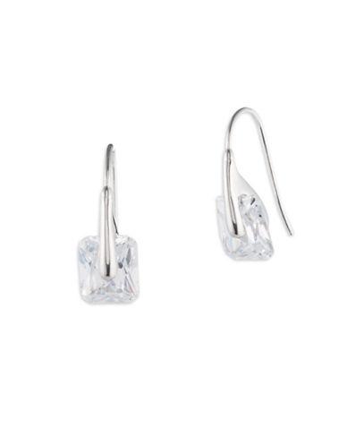Ivanka Trump Crystal Drop Earrings-SILVER-One Size