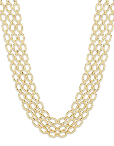 Ivanka Trump Multi-Row Chain Necklace-GOLD-One Size