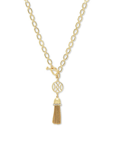 Ivanka Trump Chainlink Tassel Pendant Necklace-GOLD-One Size