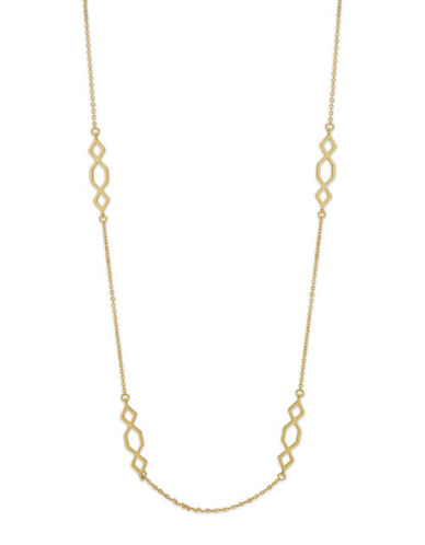 Ivanka Trump Long Station Necklace-GOLD-One Size