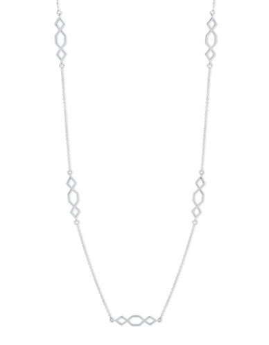 Ivanka Trump Long Station Necklace-SILVER-One Size