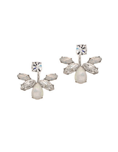 Marchesa Stone Fan Floater Earrings-SILVER-One Size