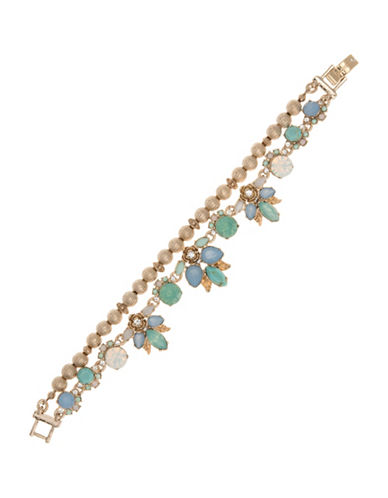 Marchesa Embellished Two-Row Bracelet-BLUE-One Size
