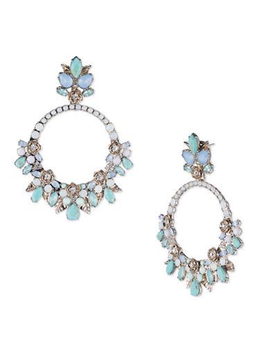 Marchesa Orbital Chandelier Earrings-BLUE-One Size