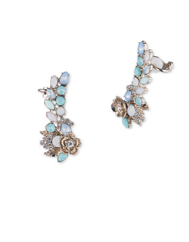 Marchesa Embellished Ear Crawlers-BLUE-One Size