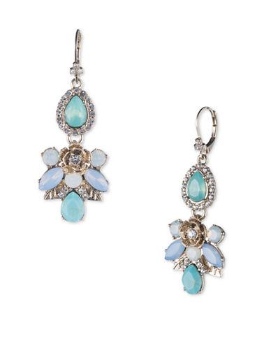 Marchesa Cluster Drop Earrings-BLUE-One Size