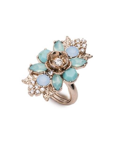 Marchesa Embellished Cluster Ring-BLUE-7