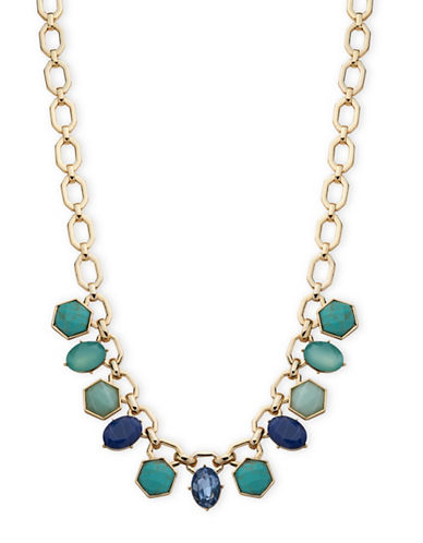 Ivanka Trump Stone Studded Frontal Necklace-BLUE-One Size