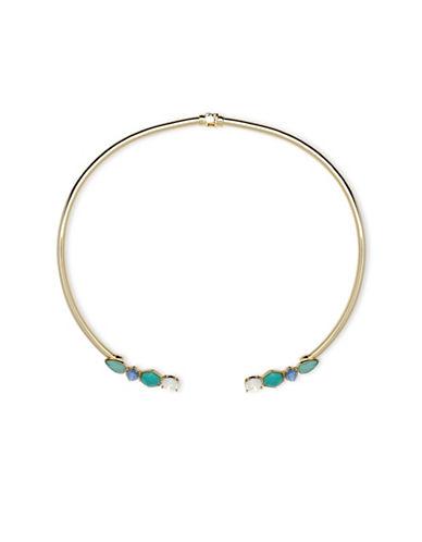 Ivanka Trump Stone Embellished Collar Necklace-BLUE-One Size