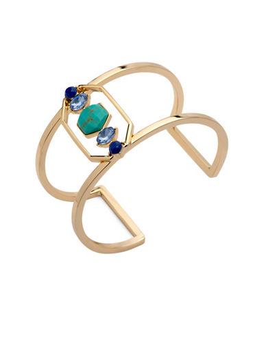 Ivanka Trump Stone Embellished Cuff Bracelet-BLUE-One Size