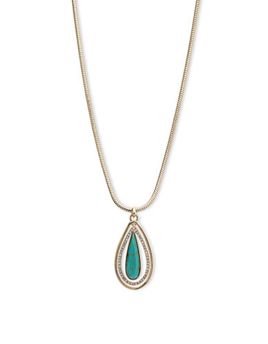 Ivanka Trump 10K Goldplated Turquoise Adjustable Pendant Necklace-TURQUOISE-One Size