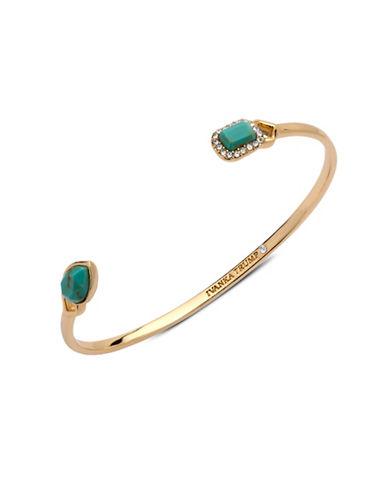 Ivanka Trump 10K Goldplated Turquoise Thin Cuff Bracelet-TURQUOISE-One Size