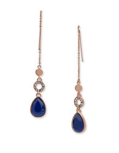 Ivanka Trump Chain Threader Earrings-BLUE-One Size