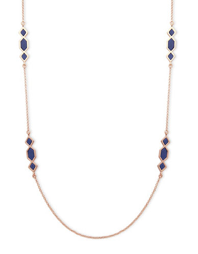 Ivanka Trump Stone Embellished Long Necklace-BLUE-One Size