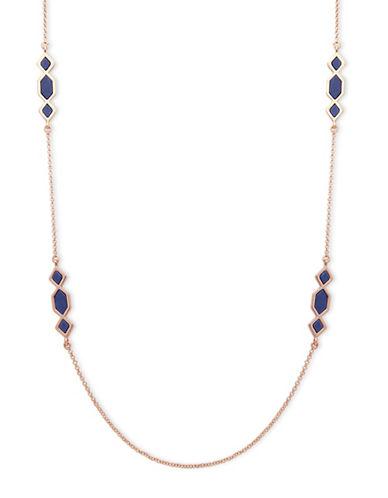 Ivanka Trump Stone Embellished Long Necklace-BLUE-One Size