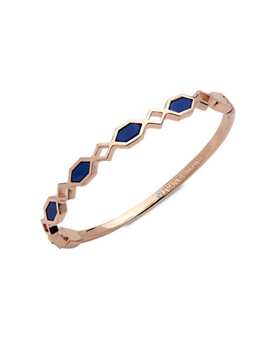 Ivanka Trump 10K Rose Goldplated Thin Bangle Bracelet-BLUE-One Size