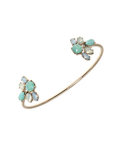 Marchesa Cluster End Open Cuff Bracelet-BLUE-One Size