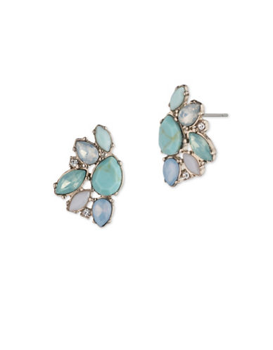 Marchesa Cluster Button Stud Earrings-BLUE-One Size