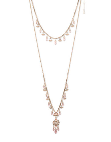Marchesa Layered Goldplated Necklace-PINK-One Size