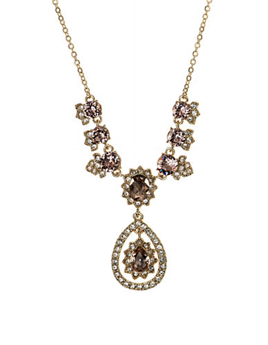 Marchesa Vintage Rose Necklace-BROWN-One Size