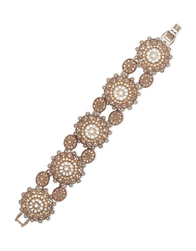 Marchesa Faux Pearl Flex Bracelet-GOLD-One Size