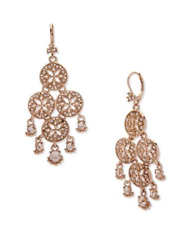 Marchesa Faux Pearl Chandelier Earrings-GOLD-One Size