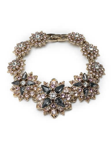 Marchesa Faceted Floral Bracelet-GREY-One Size