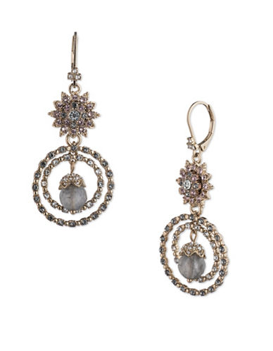 Marchesa Orbital Drop Earrings-GREY-One Size