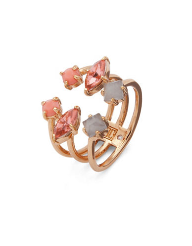 Ivanka Trump Studded Open Ring-PINK-7
