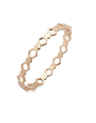 Ivanka Trump Honeycomb Bangle Bracelet-GOLD-One Size