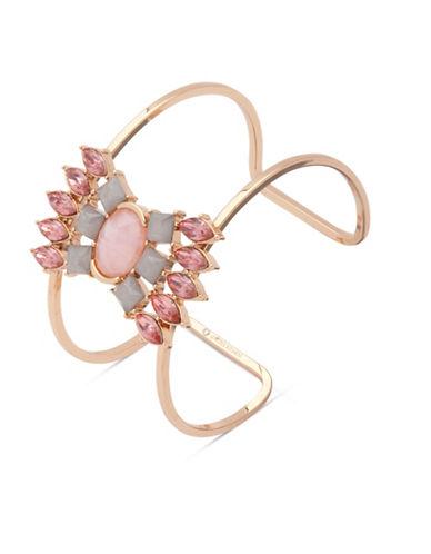 Ivanka Trump Studded Wide Cuff Bracelet-PINK-One Size