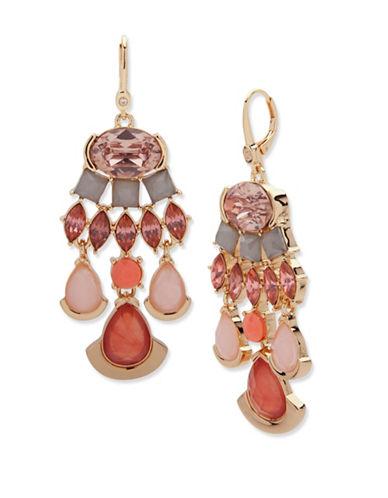 Ivanka Trump Multi-Crystal Chandelier Earrings-RED-One Size