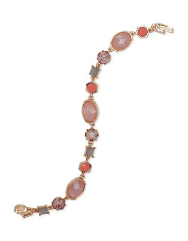 Ivanka Trump Crystal Studded Bracelet-PINK-One Size