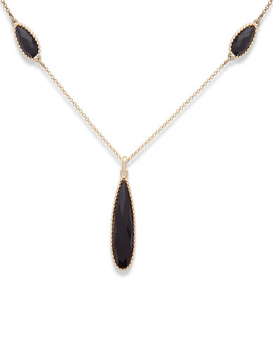 Ivanka Trump Strandage Pendant Necklace-BLACK-One Size