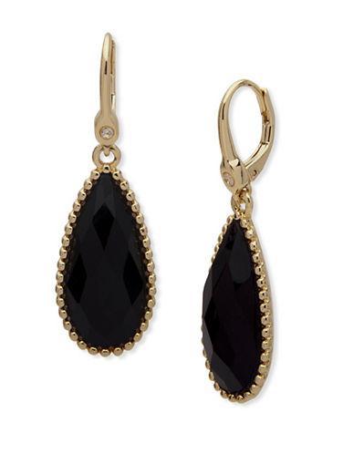 Ivanka Trump York Teardrop Earrings-BLACK-One Size